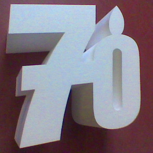 NUMEROS PARA ANIVERSARIOS Y CUMPLEAÑOS DE POLIESPAN ECONÓMICO EN 3D