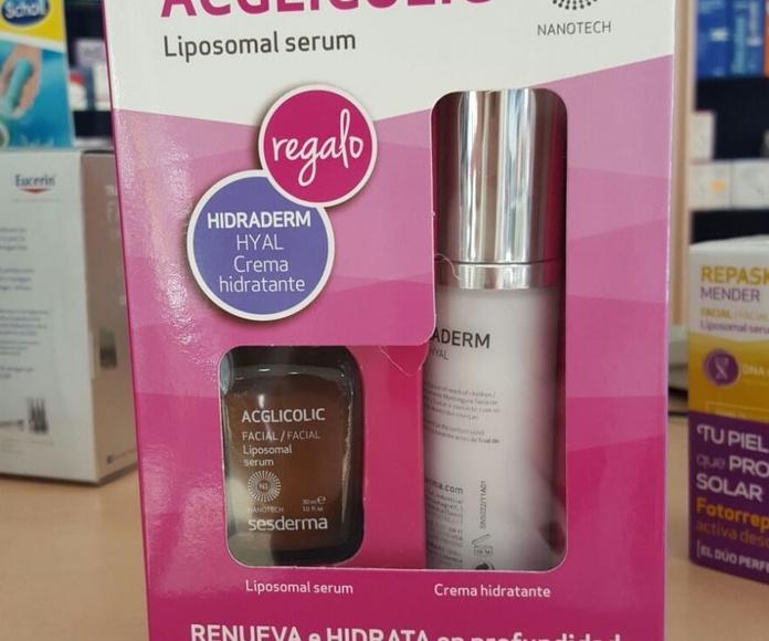 Sesderma Pack Acglicolic Liposomal Serum+ Hidraderm Hyal Crema hidratante: Productos y Promociones de Farmacia Lucía