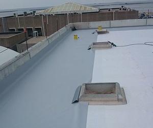 Terraza forrada con lámina de PVC