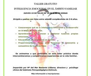 TALLER GRATUITO INTELIGENCIA EMOCIONAL EN EL ÁMBITO FAMILIAR