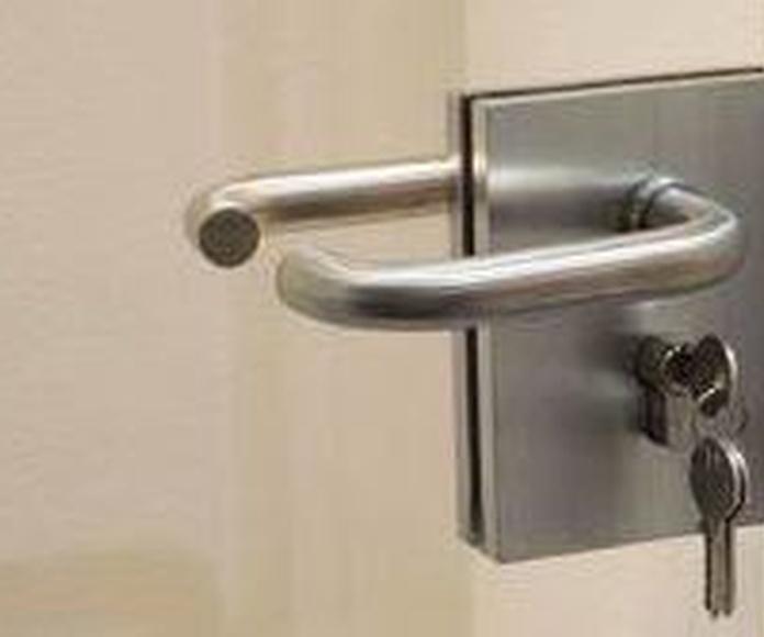 CERRADURAS PARA  PUERTAS DE CRISTAL: Servicios de Exposición, Carpintería de aluminio- toldos-cerrajeria - reformas del hogar.