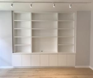 Mueble salón lacado en blanco