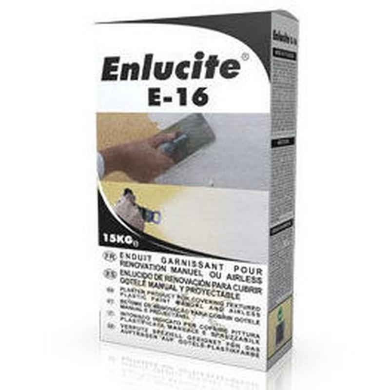 E-16 Enlucite Renovación Manual y Proyectable en tienda de pinturas en ciudad lineal.