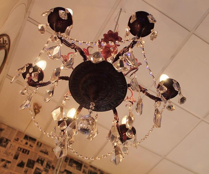 Lampara de araña color purpura: Artículos  de Ruzafa Vintage