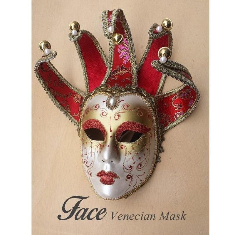 Máscara con brillantina Jolly Jolly brillantina: Máscaras y antifaces de Face Venecian Mask