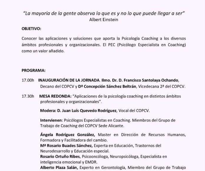 Programa Jornadas Coaching COPV