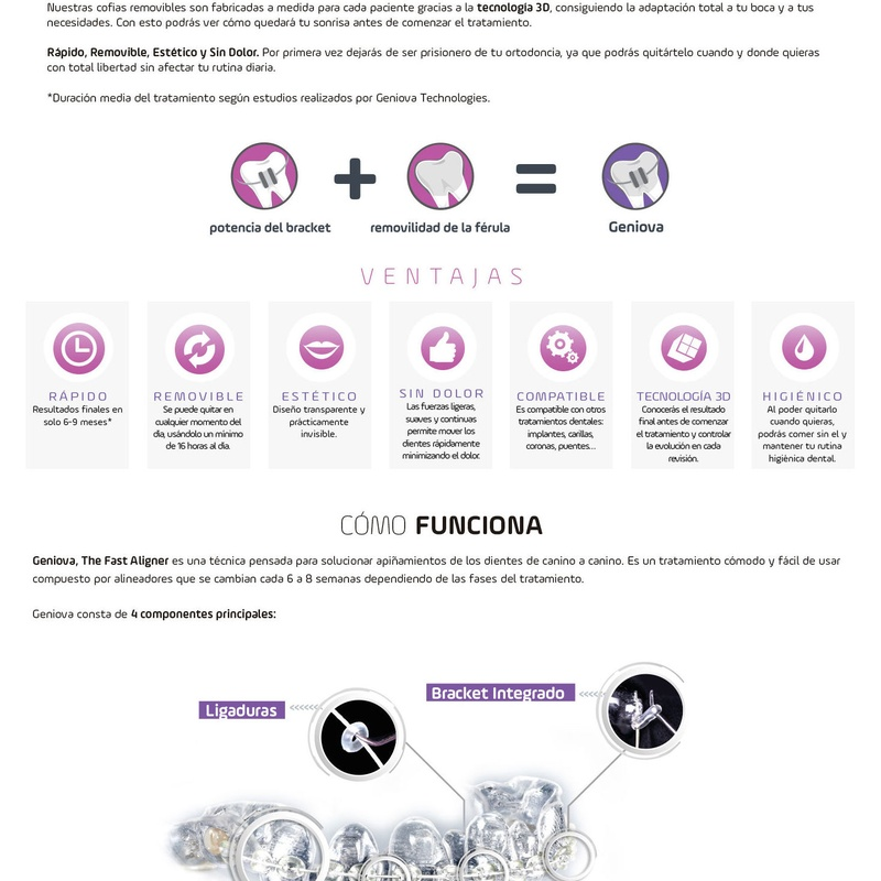 ORTODONCIA RAPIDA GENIOVA: Tratamientos de Clínica Dental Dra. Ana Lucía