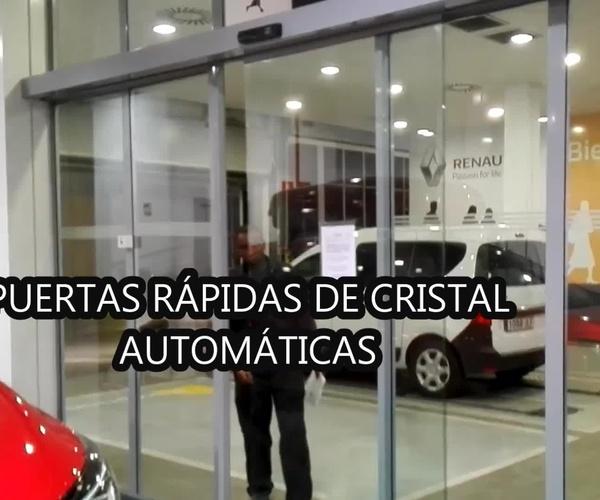 Puertas correderas rápidas de Cristal Farem