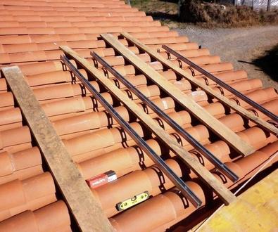 Instalación de paneles fotovoltaicos.