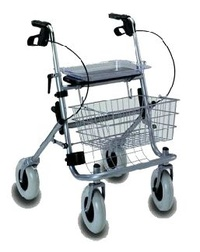 Caminador 4 ruedas y frenos  rolator