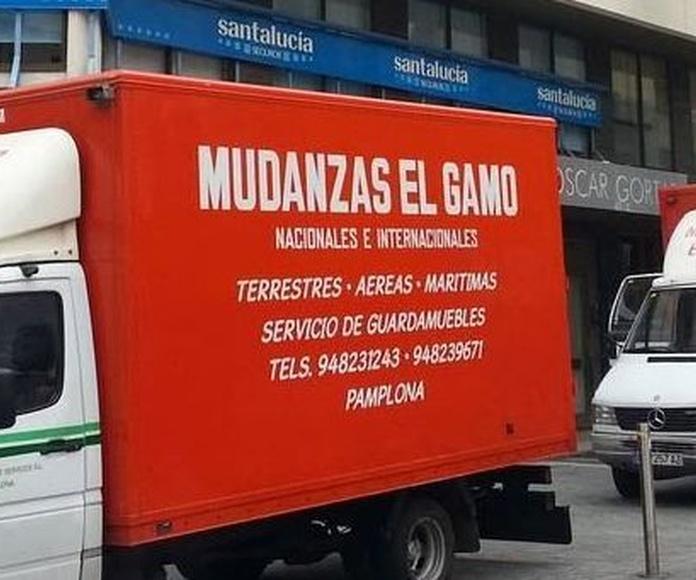National & International removals in Pamplona.                        : Catálogo de Mudanzas Gamo