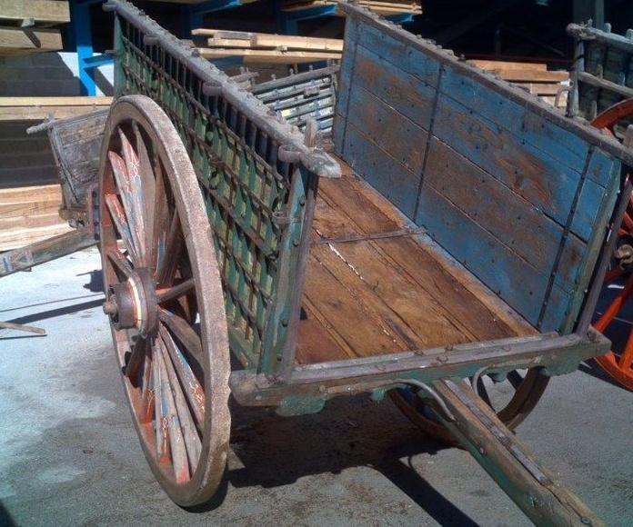 Carros antiguos de madera, trillos, ruedas...: Catálogo de Maderas Aguirre