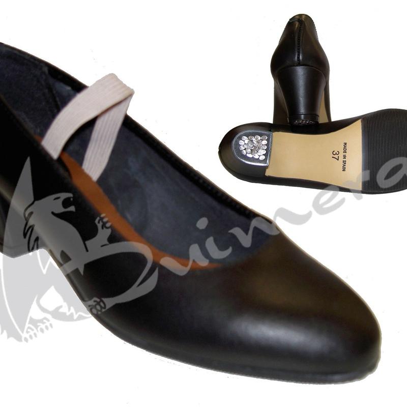 Zapato flamenco piel