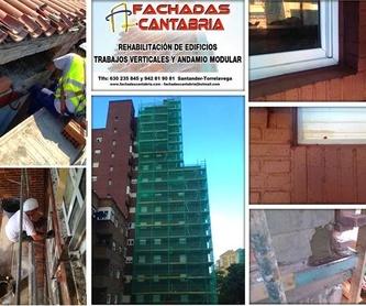 Impermeabilización  reparación de fachadas  sistema de descuelgue vertical.: Trabajos verticales Santander  de Trabajos Verticales Cantabria