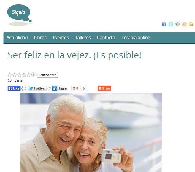 Nueva publicación en Siquia. Felicidad y envejecimiento