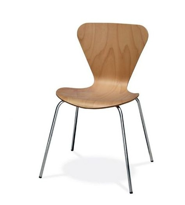 silla danesa fija en madera natural