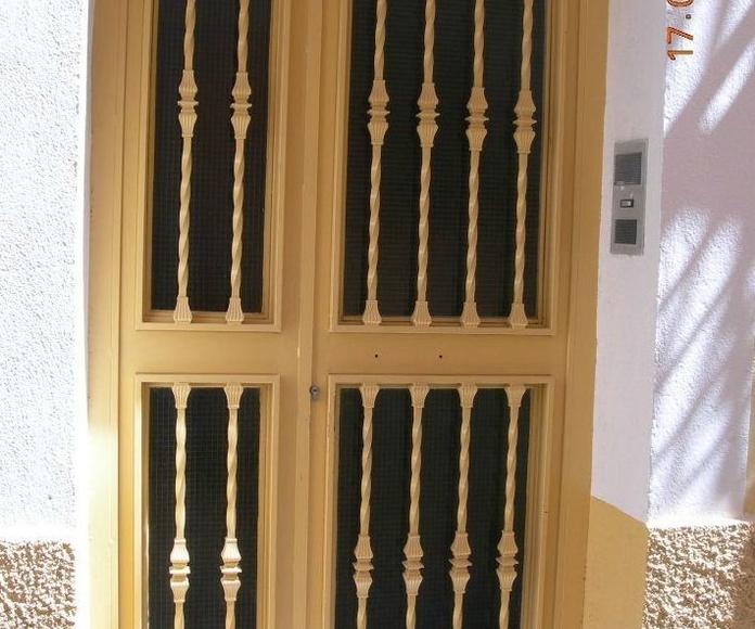 Puerta de hierro de 2 hojas abatibles