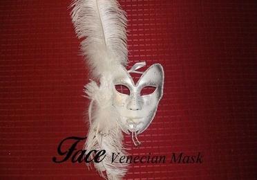 Máscaras con brillantinas y plumas Volto mariposa