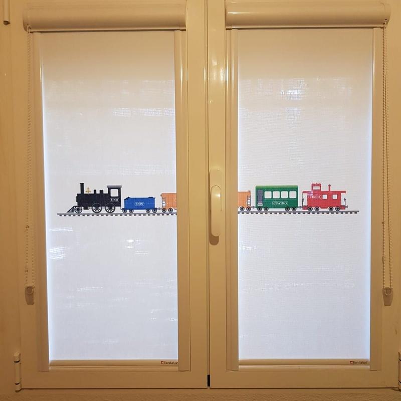 Estores Glass con impresión digital para ventanas oscilobatientes o  abati