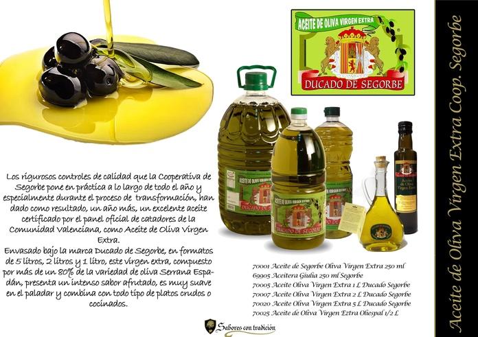 """Aceite de Oliva Virgen Extra """" Coop Segorbe """": Productos de Sabores con tradición"""