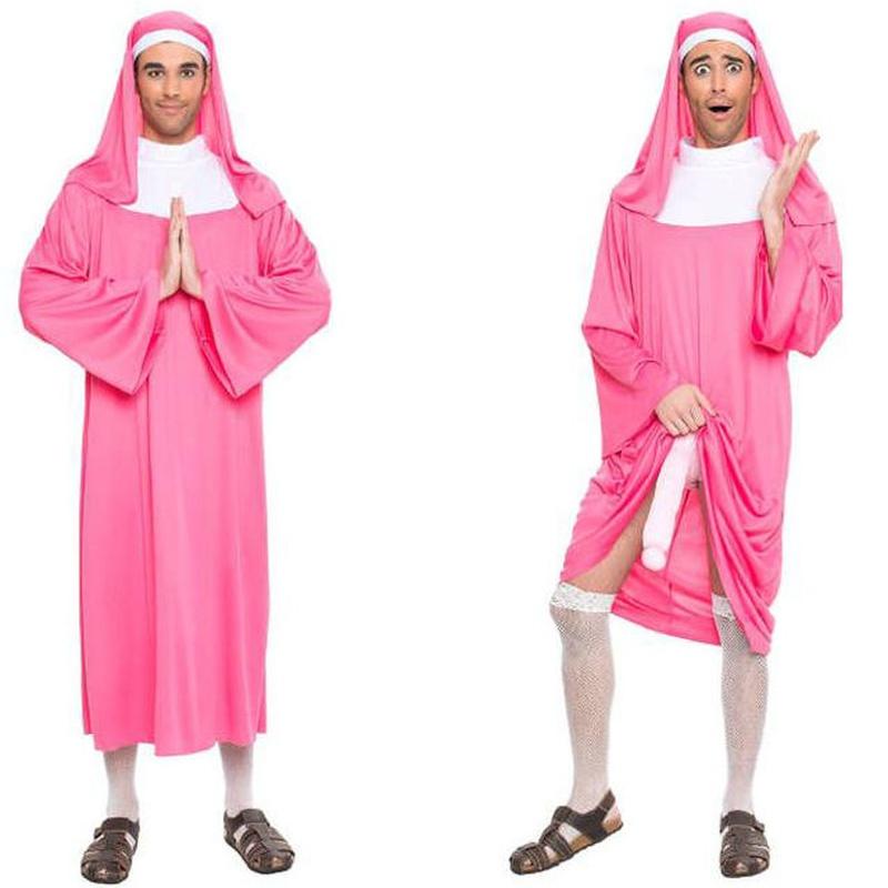 Disfraz monja rosa