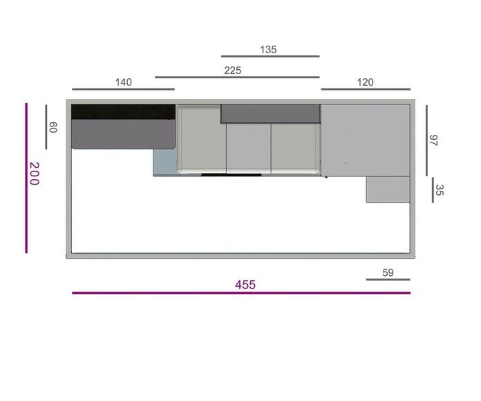 DORMITORIO JUVENIL IH146: Productos de Crea Mueble