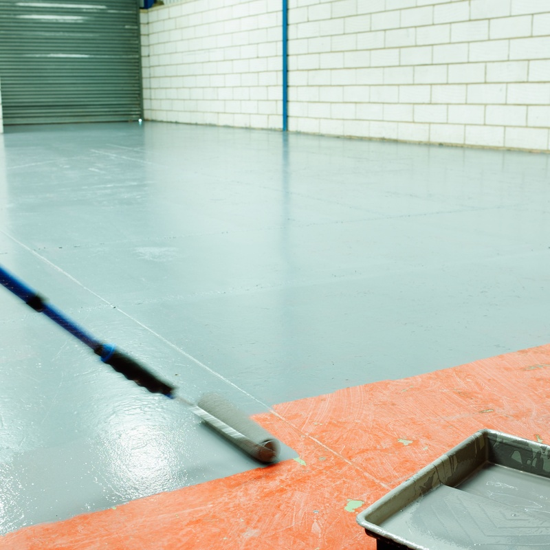 Pavimentos y pinturas especiales para garajes e instalaciones deportivas: Servicios de David Alonso Pintores