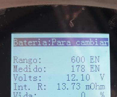 REVISION DE BATERIAS CON CANTIDAD DE VIDA UTIL QUE NOS QUEDA    (  MAQUINA )