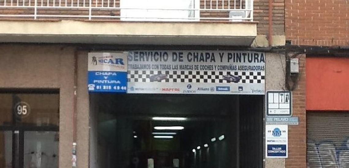 Talleres concertados de Mutua Madrileña para reparaciones de chapa en Madrid