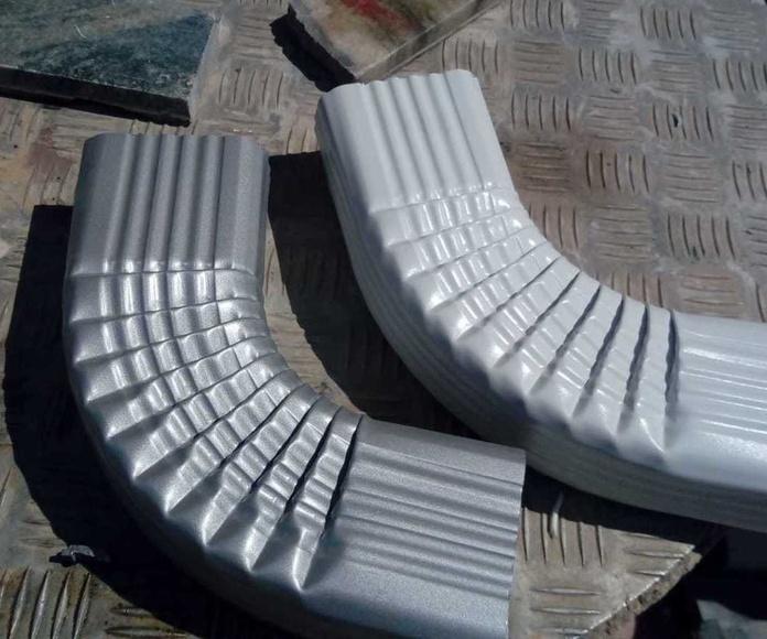 Canalon de aluminio en blanco y rustico