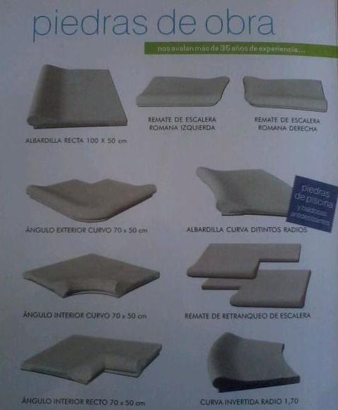 Piedras de Obra: Productos y Servicios de Bordes de Piscinas J. Antonio Alonso