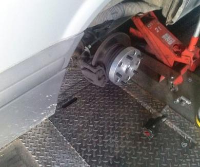 Instalación separador rueda