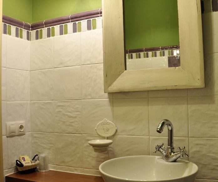 Cuarto de baño apartamento Ordesa.