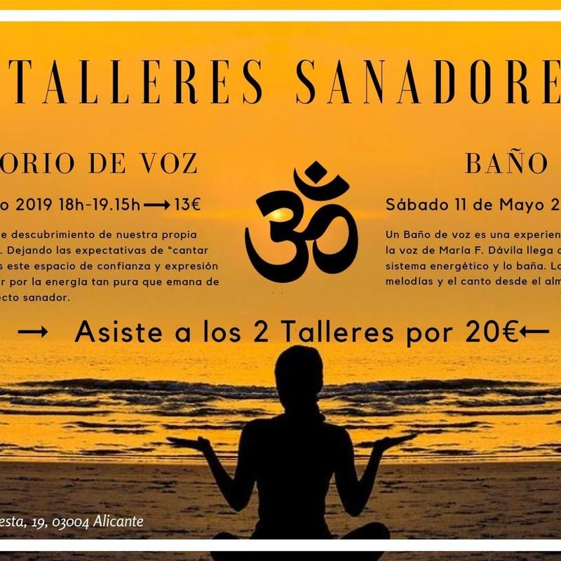 Talleres Sanadores; Laboratorio de Voz y Baño de Voz en Alicante