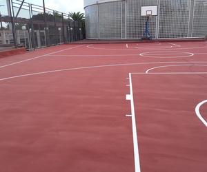 Suelos de las pistas de baloncesto. Universidad de Las Palmas de Gran Canarias