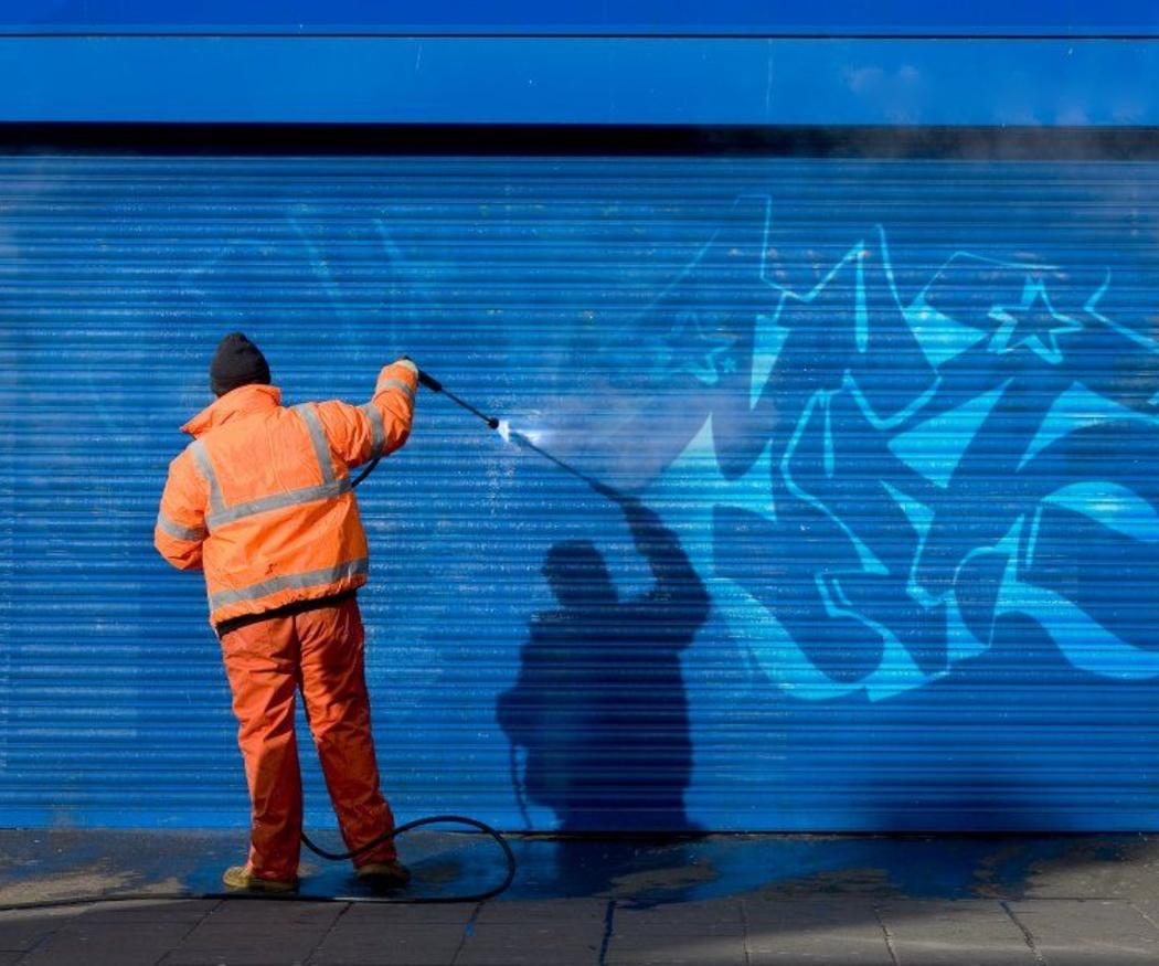 Algunos métodos para limpiar los graffitis