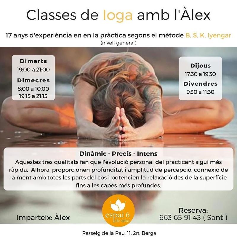 Yoga  con Alex: Servicios de Espai 6 de Salut