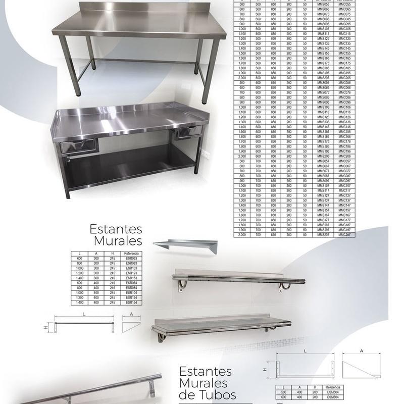Reparación y mantenimiento de barras y encimeras de acero inoxidable.: Productos y Servicios de Equiporama
