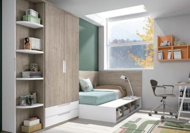 Habitación juvenil de estilo contemporáneo