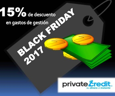 """Black Friday"" en Private Credit: 15% de descuento en gastos de gestión"