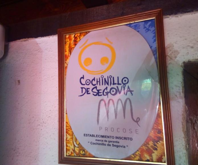 Marca de garantía cochinillo de Segovia