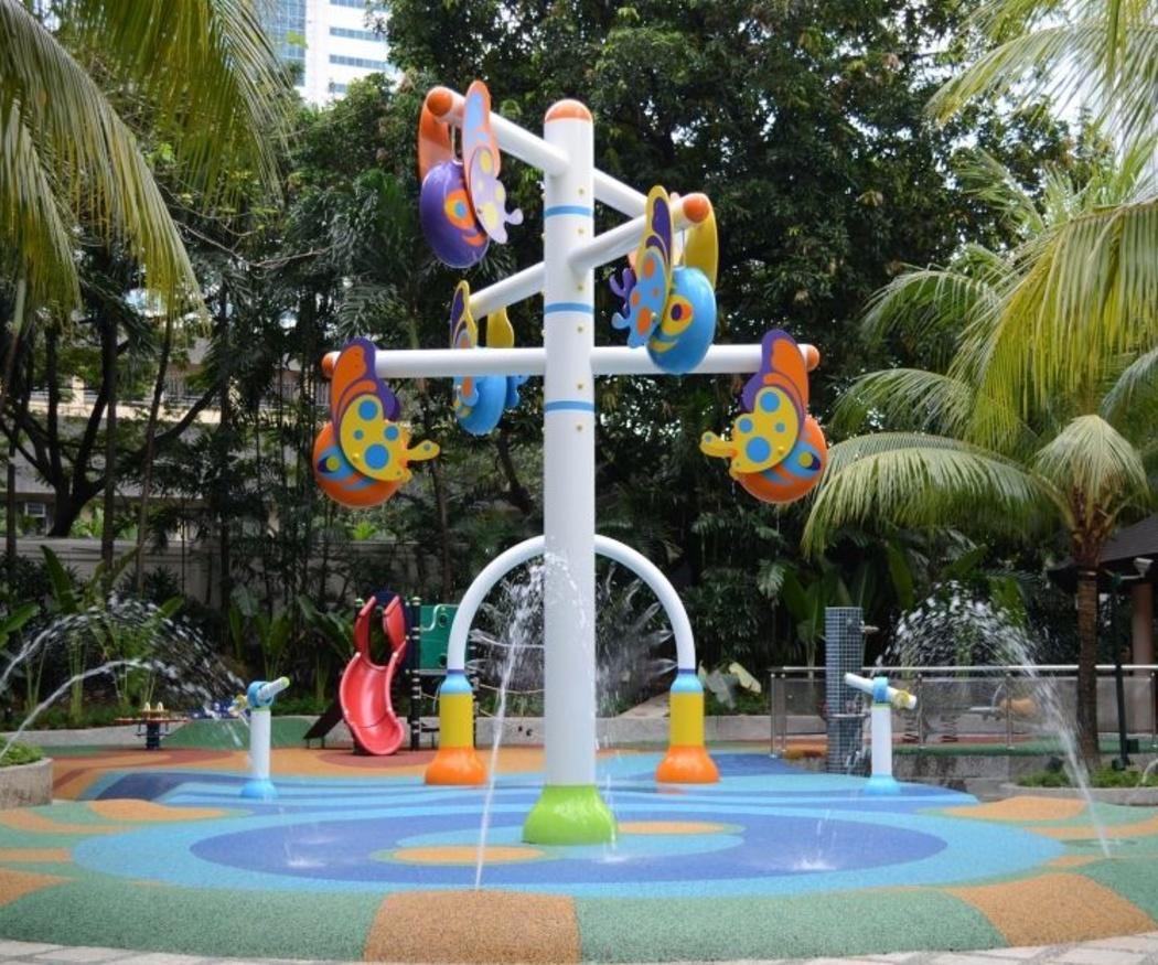 Los colores en los parques infantiles