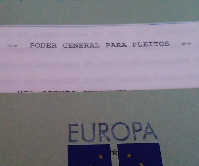 Poder para pleitos: Servicios notariales  de Mª Gemma López-Brea Espiau