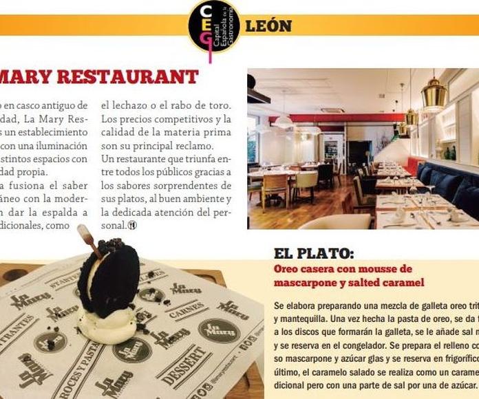 Reportaje en la revista Vinos y Restaurantes