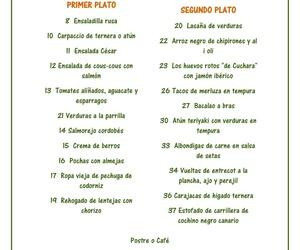 Menú diario / Daily menu