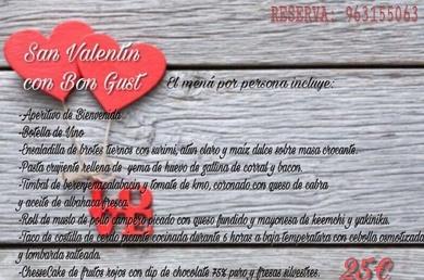 Celebra San Valentín en Restaurante Bon Gust barrio del Carmen!!
