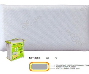 ALMOHADA VISCO LAVABLE TRANSPIRABLE