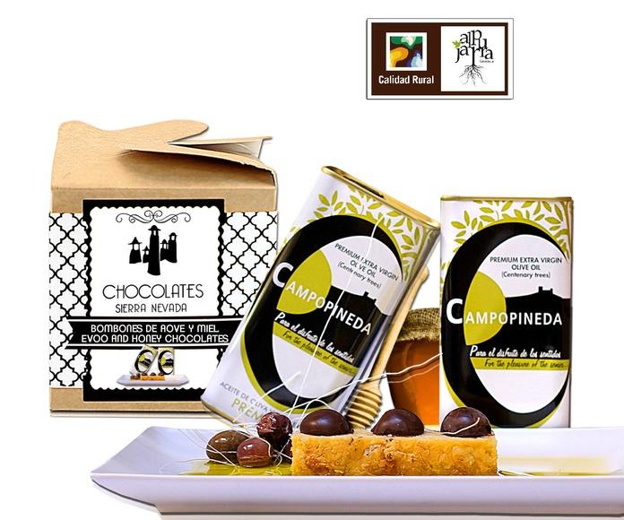 Bombones con aceite de oliva y miel: Nuestros productos de Chocolates Sierra Nevada