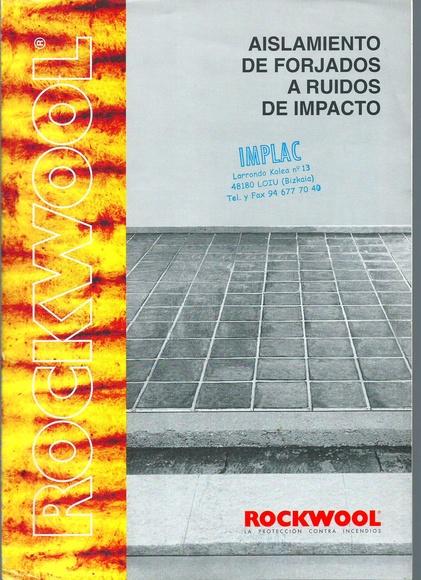 Aislamientos de forjado a ruidos de impacto:  de Implac