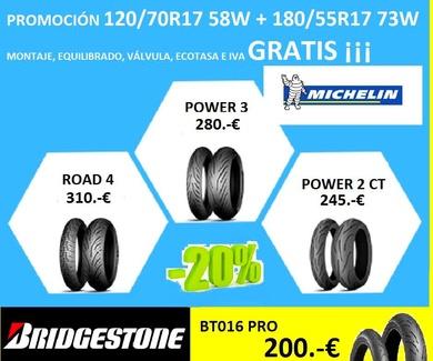 En Taller Rueda Ocasión OFERTON para neumáticos de moto ¡¡
